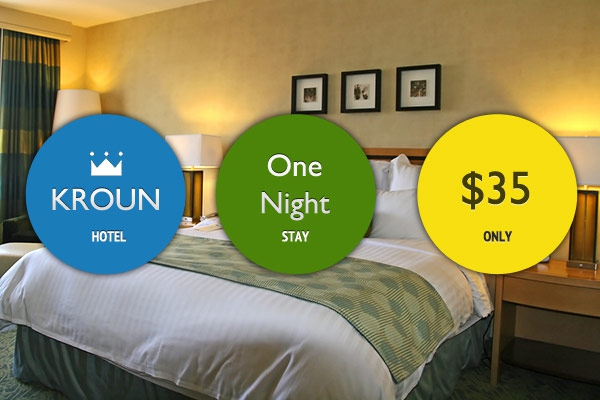 One Night's Stay in Krown Hotel for $35 (Value $70)